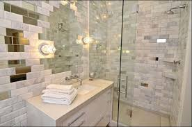 bathroom appealing akdo tile with sweet purple flowers for modern modern bathroom design with akdo tile and wall sconces plus glass shower door also bathroom cabinets