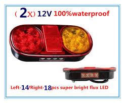 submersible boat trailer lights 2pcs led tail light l trailer light l boat jet ski submersible
