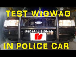 federal signal fp1 06 headlight wig wag flasher youtube
