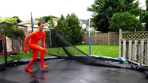 halloween morphsuits halloween morphsuit vs trampoline into pool part 1 and 2 mash up