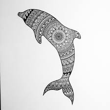 drawn dolphines plur pencil and in color drawn dolphines plur