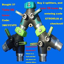 Toch Garden Hose Splitter 2 Way Y Valve Garden Hose Shut Off Valve Garden Hose Splitter Faucet To Hose Connector 2 Way Hose To