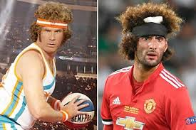 rambo headband marouane fellaini is compared to will ferrell s jackie moon after