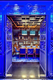 Chinese Interior Design by Modern Chinese Restaurant Interior Design Stock Photo Picture And