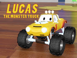 toy monster trucks racing amazon com lucas the monster truck charles courcier edouard
