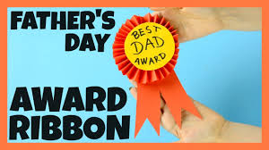 award ribbon father u0027s day craft for kids youtube