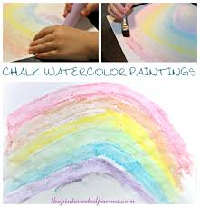 chalk watercolor painting u2013 the pinterested parent