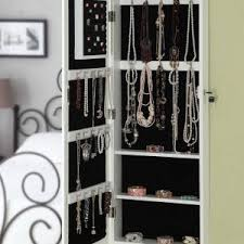 Armoire With Mirrored Front Furniture Over The Door With Wall Hang Mirrored Jewelry Armoire