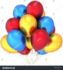 party balloons yellow red blue balloon stock illustration 72858841