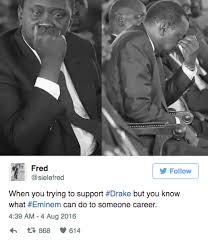 Eminem Drake Meme - 30 crazy hilarious tweets drake half challenges eminem to rap
