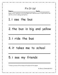it up sentences capital letters and ending punctuation pack 2