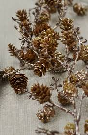 cone garland gold 6ft
