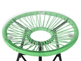 Mexican Patio Furniture Sets Patio Bistro Set Green Acapulco Beliani Com