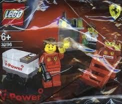 ferrari lego shell amazon com lego ferrari shell promo 30196 ferrari pit crew lego