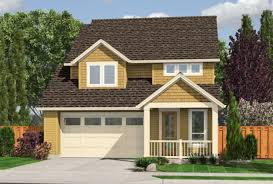 suburban small bungalow house with single garage stock photo