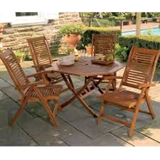 target folding patio table high back patio chairs wood folding patio furniture set with