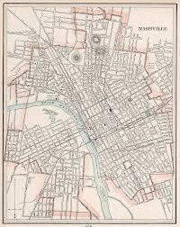 Vintage Map Vintage Map Of Nashville Tennessee 1901