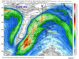 Jetstream Map Unsettled U0026 Mild Through Christmas But No Major Issues