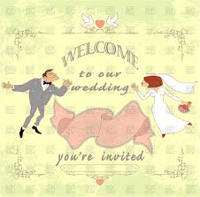 wedding card to groom from invitation or wedding card with groom and in vintage style
