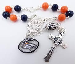 catholic rosary team auto rosary denver broncos catholic rosary