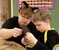 student teachers career center preschool gives high schoolers