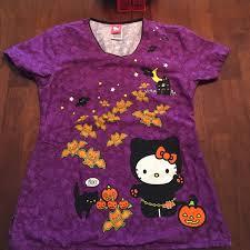 60 off hello kitty tops hello kitty halloween scrub top from
