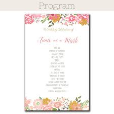 print at home wedding programs floral border wedding program the print cafe