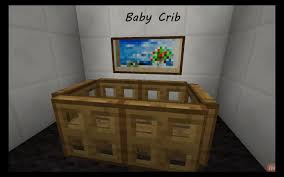 Minecraft How To Make A Furniture by Minecraft Tutorial How To Make A Baby Crib Youtube