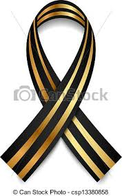 black and gold ribbon vector black and gold st george ribbon clipart vector search