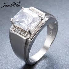 white zircon rings images Junxin luxury male aaa white zircon finger ring fashion 925 silver jpg