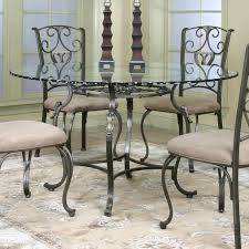 round glass dining table cramco j9811 4 wescot round glass top