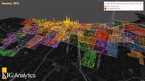 Chicago Neighborhood Map Kig Analytics Chicago New Construction U0026 Demo Permits Heat Map