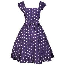 damson purple polka dot swing dress polyvore