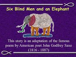 Blind Men And The Elephant Poem The U201cjudicial U201d Aspect Of God Ppt Download