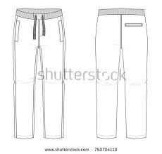 technical sketches pantsvector stock vector 266864048 shutterstock