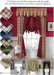 Tie Up Window Curtains Tie Up Shade Logan Plaid And Solid Clearance