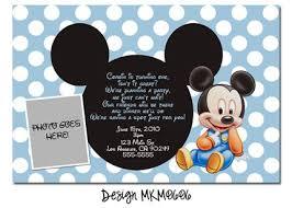 mickey mouse first birthday party invitations stephenanuno com