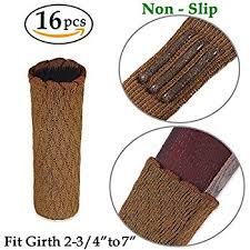 Chair Feet Covers Amazon Com Yueton 20pcs Square Rubber Chair Leg Caps Feet Pads
