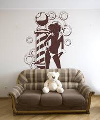 vinyl wall decal sticker sexy barbershop with braids os aa592