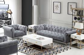 gray chesterfield sofa gilmore platinum gray velvet chesterfield sofa
