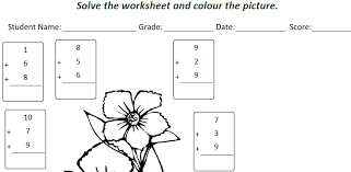 class 1 maths addition worksheet for students tutorial learners