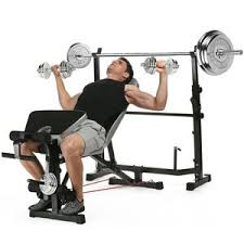 Incline Dumbell Bench Press Amazon Com Ancheer Adjustable Olympic Weight Bench With Preacher