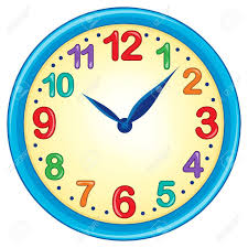 theme clock clock theme image 3 eps10 vector illustration royalty free