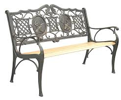 patio furniture bench traditional cast iron deer