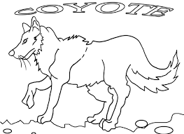coyote coloring page alric coloring pages