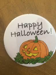 happy halloween jack o u0027 lantern button