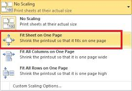 how to fit excel sheet on one page and print as a pdf