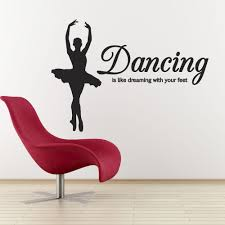 dancer wall stickers ebay dancing is like dreaming with your feet wall sticker dance quote wall art