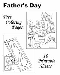 father coloring pages