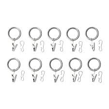 Curtain Clips Ikea Syrlig Curtain Ring With Clip And Hook Nickel Plated 25 Mm Ikea